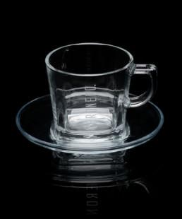 tazza in vetro per cappuccino veronero