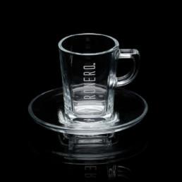 tazzina grigia in vetro per espresso veronero
