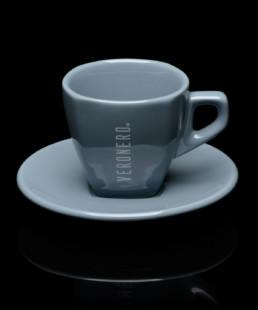 tazza grigia per cappuccino veronero