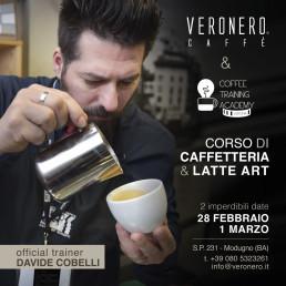 Corso di caffetteria e latte art - Coffe Traning - 28 febbraio, 1 marzo - Veronero
