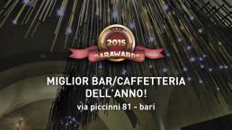 Miglior bar/caffetteria dell'anno, Premio Bar Awards 2015 - Veronero Caffè Shop, via Piccinni 81